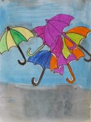 Kl. 1/2 - Fliegende Regenschirme