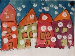 Kl. 1/2 - Häuser im Winter