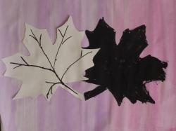 Kl. 1/2 - Herbstblatt mit Schatten