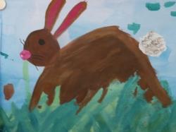 Kl. 4 - Der Osterhase im Gras