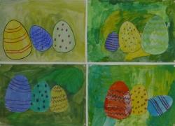 Ostereier und Osterhasen